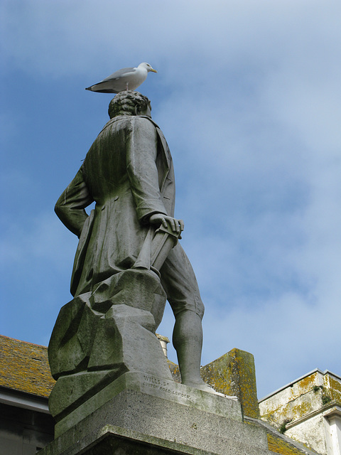 Sir Humphrey Davy statue, Penzance, Cornwall