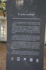Plaque at the episcopal palace