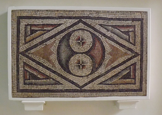 Mosaic Border Fragment with a Lozenge and Double Pelta Design on the British Museum, May 2014