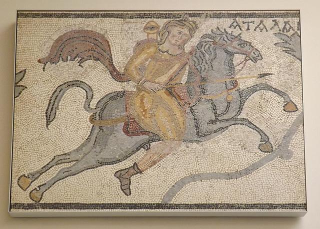 Atalanta on Horseback, Mosaic Panel from Halicarnassus British Museum, May 2014