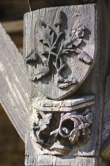 Wooden detail at the library