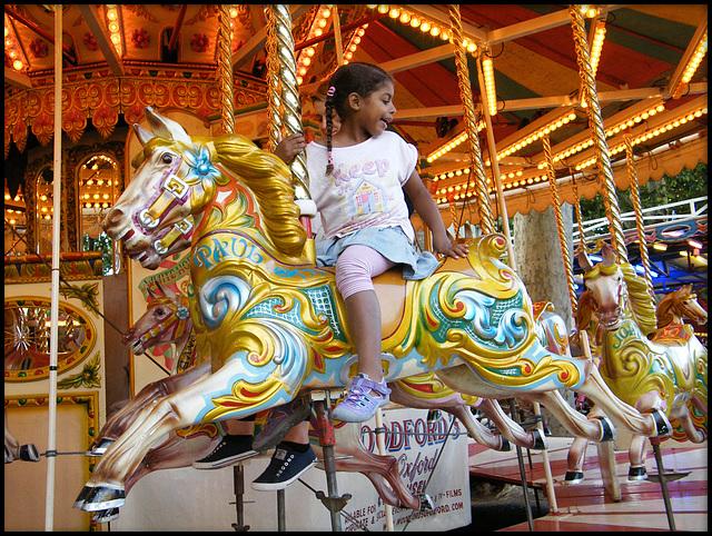 golden galloping horses