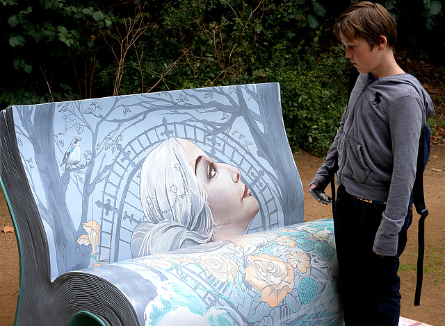 BookBench sculpture:  Mrs Dalloway