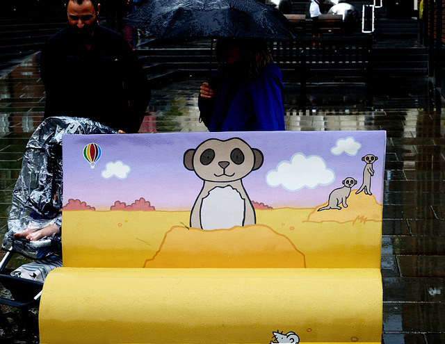 BookBench sculpture: That's not my meerkat…