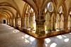 Les galeries du cloître de l'abbaye de Noirlac