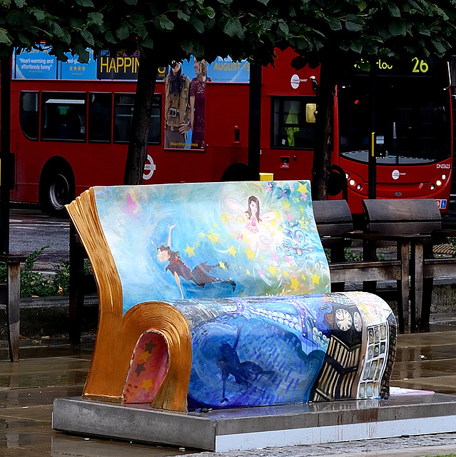 BookBench sculpture: Peter Pan