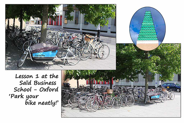 Bikes at Said Business School - Oxford - 14.8.2014
