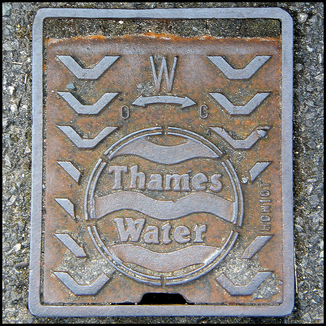 Thames Water iron cover