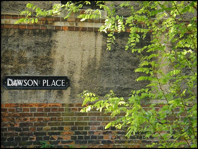 Dawson Place street sign