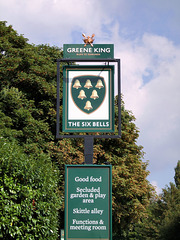 The Six Bells public house sign