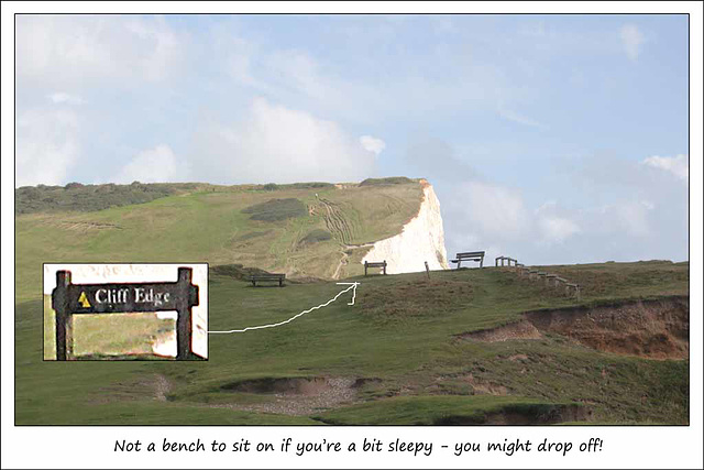 Not a bench to drop off on - Seaford - 29.8.2014