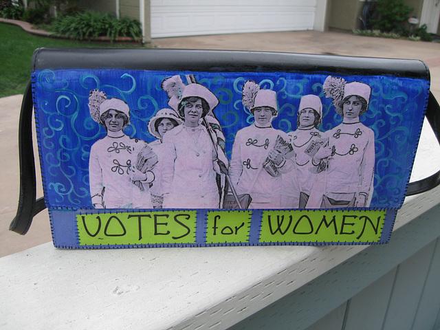 Upcycled Suffrage Purse:  Elisabeth Freeman (1)