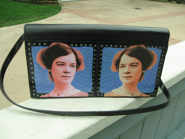 Upcycled Suffrage Purse:  Elisabeth Freeman (2)