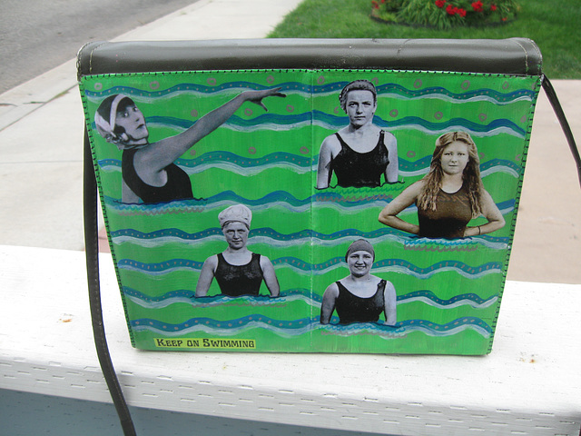 Upcycled Purse:  Keep on Swimming (2)
