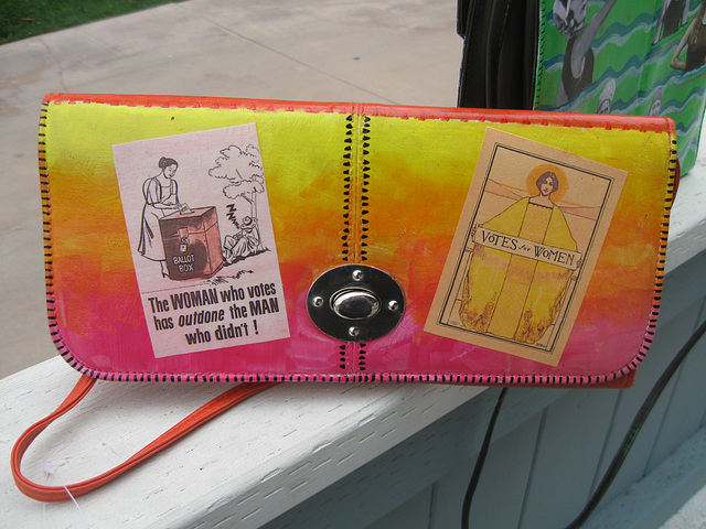 Upcycled Suffrage Purse: Votes for Women (1)