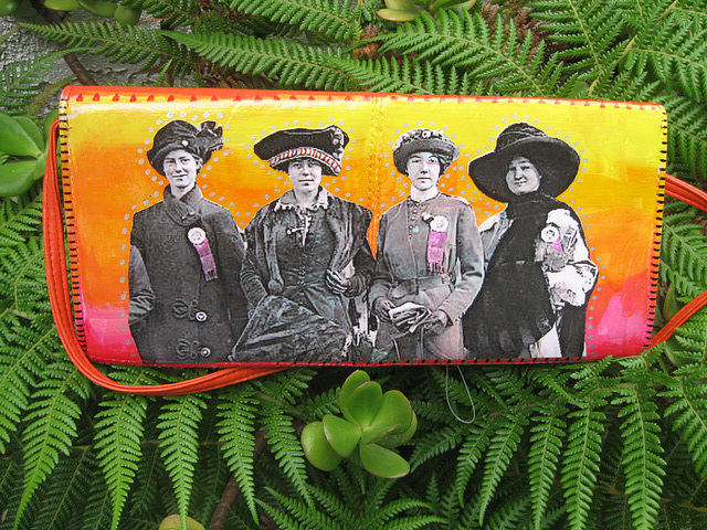 Upcycled Suffrage Purse:  Votes for Women (2)