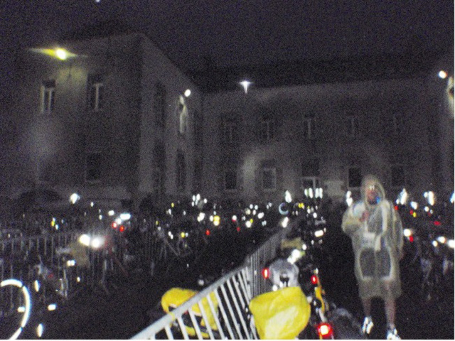 Collège Lycée Saint-Joseph, the control at Loudeac. Beginning of second night.  449km completed. August 22.