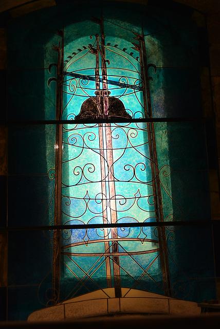 vitrail chapelle Les Arcs