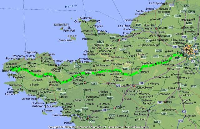 Map: Paris-Brest-Paris