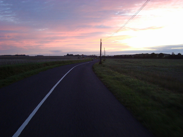 Dawn at last. Near Dreux. 5th and last day. August 25