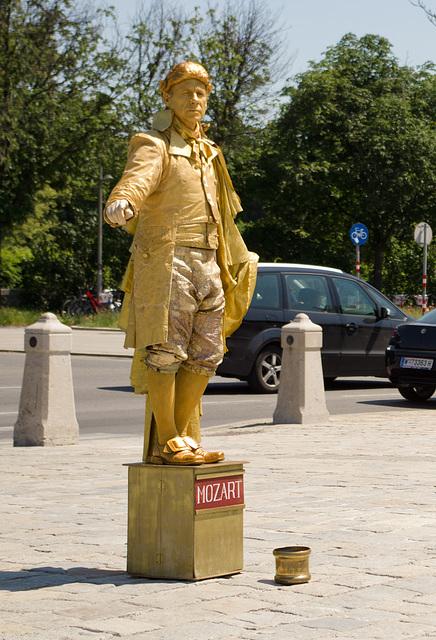 Mozart (apparently) at the Schönbrunn Palace, Vienna