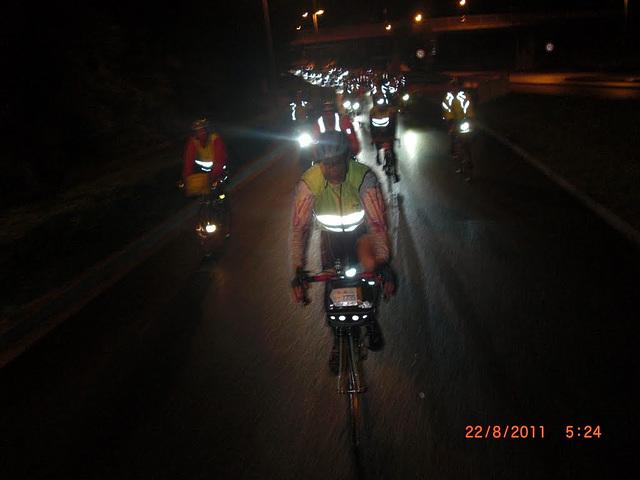 Night riders near Villaines La Juhel, August 22