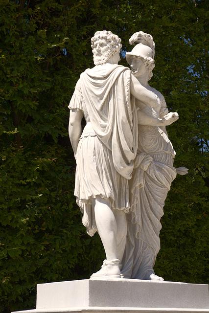 Statue of Janus and Bellona, Schönbrunn Garden, Vienna