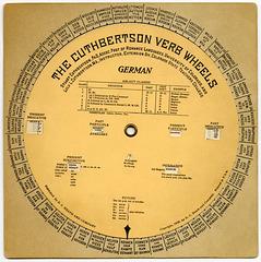 The Cuthbertson Verb Wheels: German, 1938