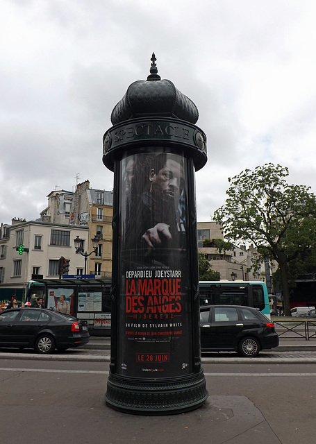 Ad Kiosk Near Pigalle in Paris, June 2013