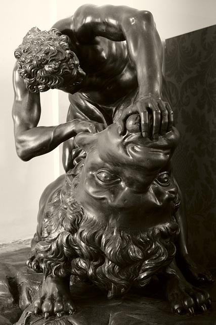 Hercules Slaying the Nemean Lion – a Bronze sculpture at Schönbrunn Palace, Vienna