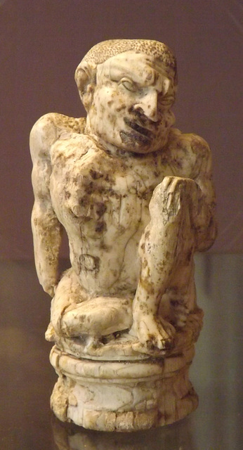 Ivory Figure of a Hunchback with Signs of Pott's Disease in the British Museum, May 2014