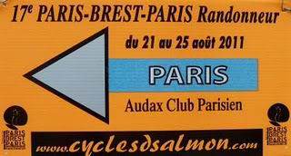 This road leads to Paris - PBP route sign - don't miss it