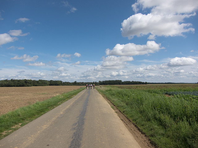 The road from Dreux to Paris
