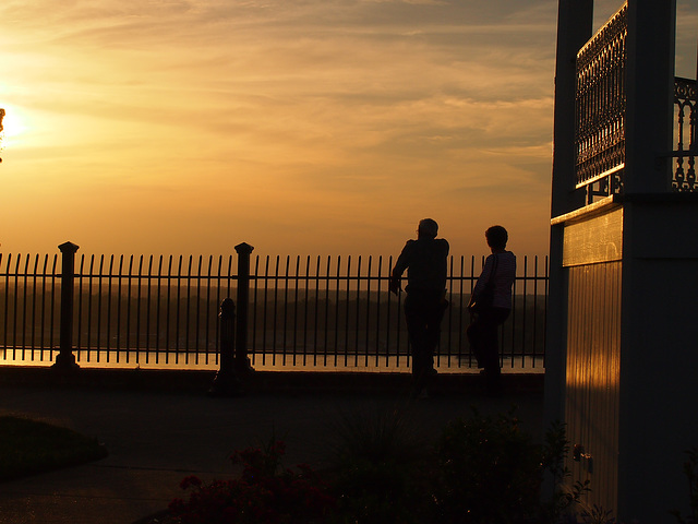 Sonnenuntergang am Mississippi
