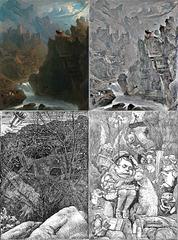 John Martin's Bard and Henry Holiday's Snark Illustrations