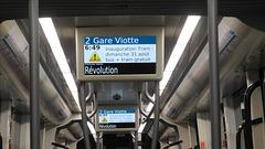 BESANCON: 2014.08.31 Inauguration du Tram: Intérieur d'un tram.02