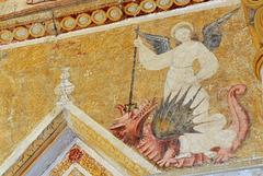 Fresque (XVIe s) de l'église de Châteloy