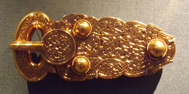 Sutton Hoo Great Gold Buckle in the British Museum, May 2014