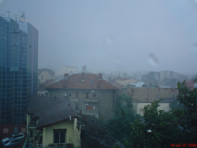 Rain in Bucharest.