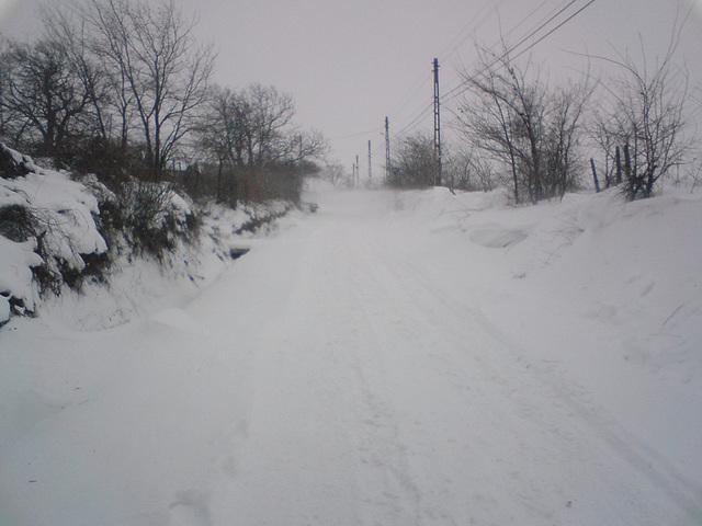 White road.