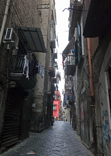 Street in the Historic Center of Naples, June 2013