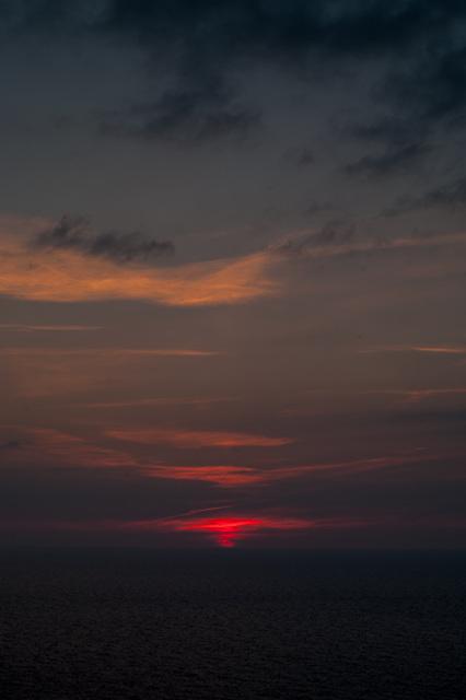 Sunset near Boscastle