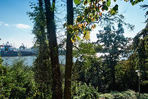 Sonniger Ausblick vom Elbpark aus -- elbblick-1190671-co-03-09-14