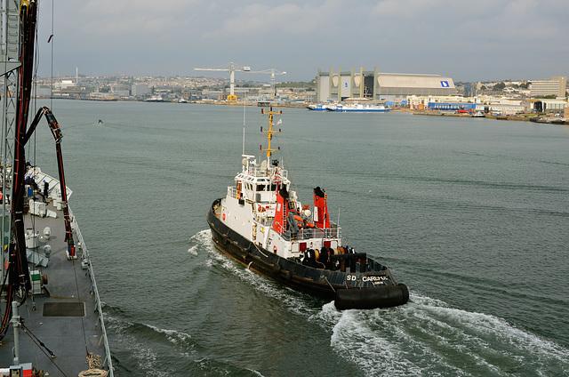 Approaching Devonport Dockyard