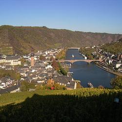 Blick von der Reichsburg auf Cochem