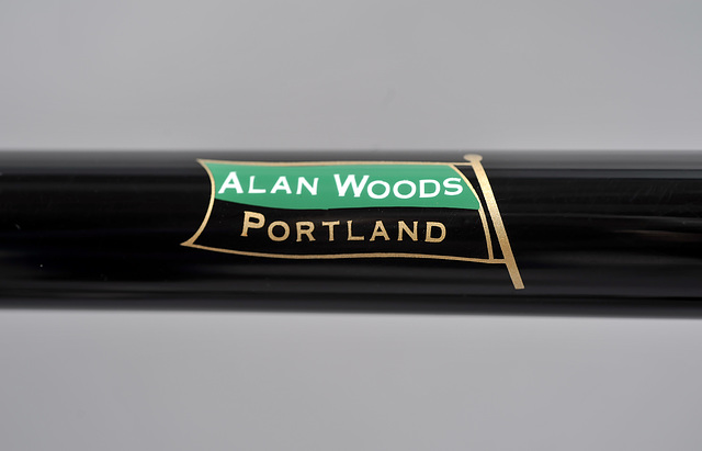 Owner's name was masked onto the top tube by Spectrum Powderworks
