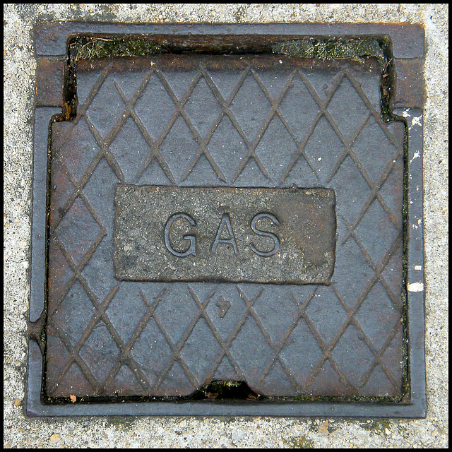 old iron gas cover