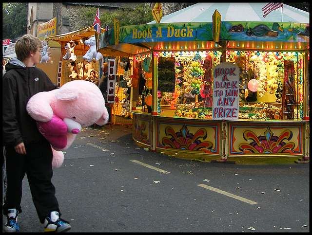 win a stupid pink bear