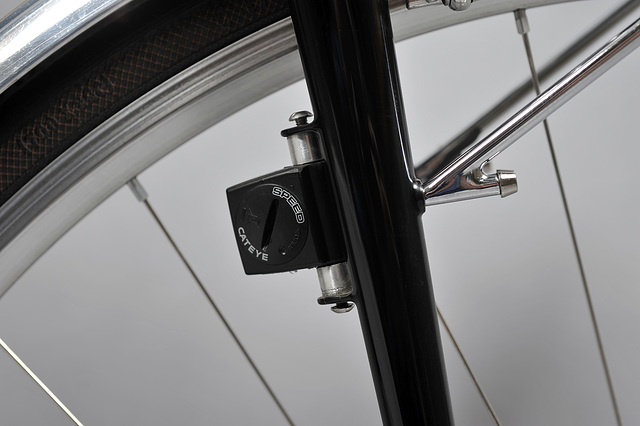 Braze-on mount for wireless speed sensor driving two cycle computers (for improved functionality and redundancy)