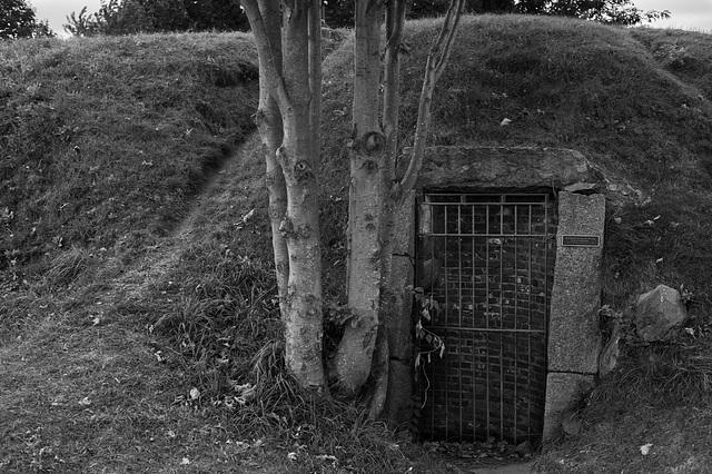 a door in a hill...
